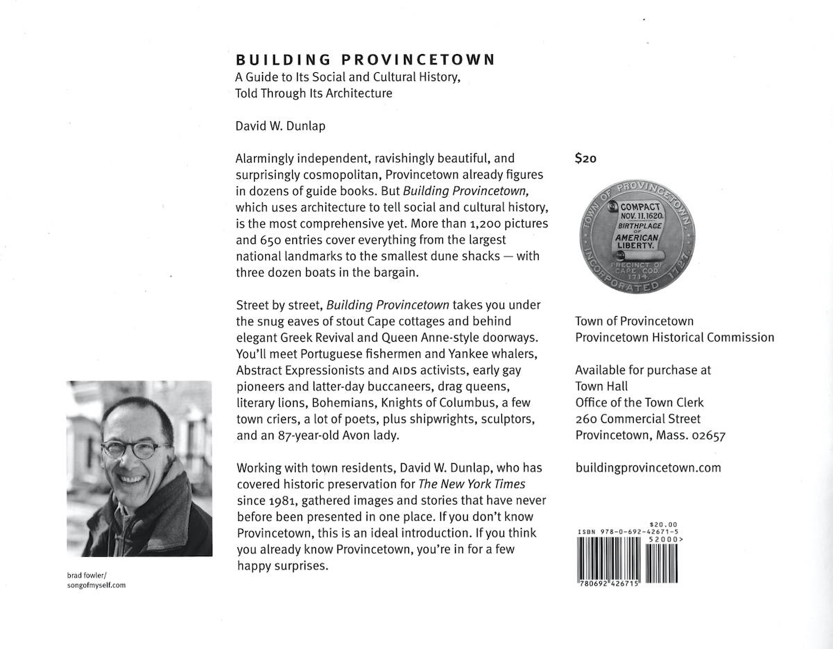 Building Provincetown Back Cover